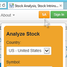 Stock Analyzer is always visible.