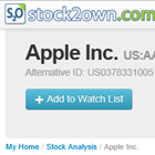 Stock Analyzer provides a link to Watch Lists
