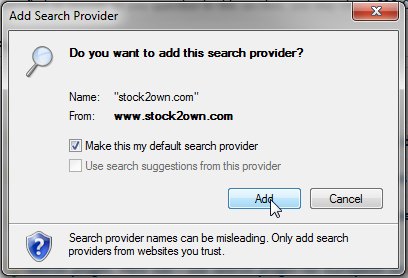 Search Plugin: Confirm Search Plugin installation